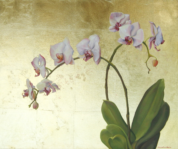 Orchid on Gold
